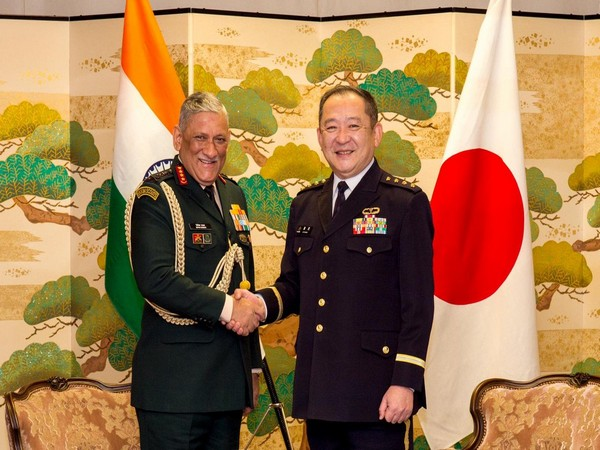 Indian Army Chief General Bipin Rawat with General Goro Yuasa, Chief of Staff of Japan Ground Self Defence Force