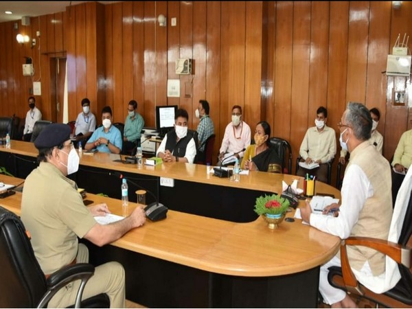 Uttarakhand Chief Minister Trivendra Singh Rawat during the meeting with officials on Friday. (Photo/ANI)