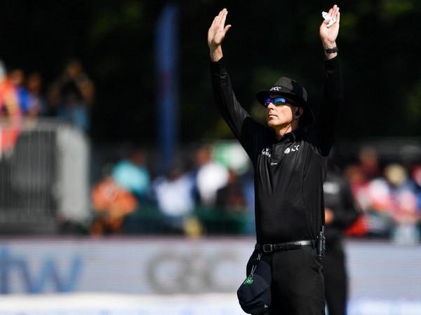 Irish umpire Roland Black (Image source: Cricket Ireland's Twitter)