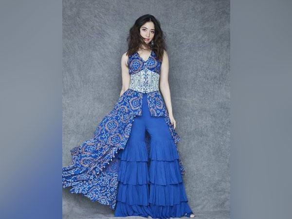 Tamannaah looks ravishing in blue bandhani print ensemble