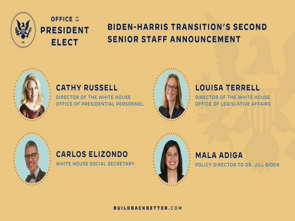 Biden announced four new members of his White House senior staff on Friday.