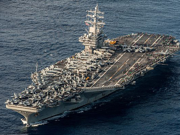 U S  aircraft carrier Reagan to be sent to Korean Peninsula this month