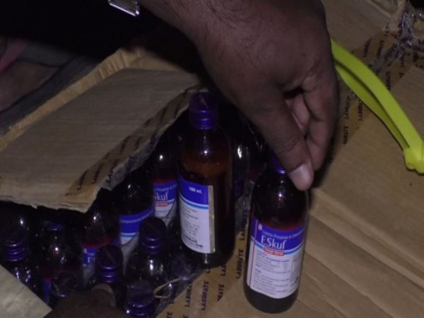 40,560 bottles of Phensydel seized from a godown in  Badharghat in Tripura
