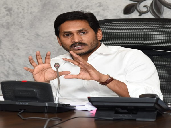 Chief Minister YS Jagan Mohan Reddy speaking at the meeting in Amaravati on Wednesday.