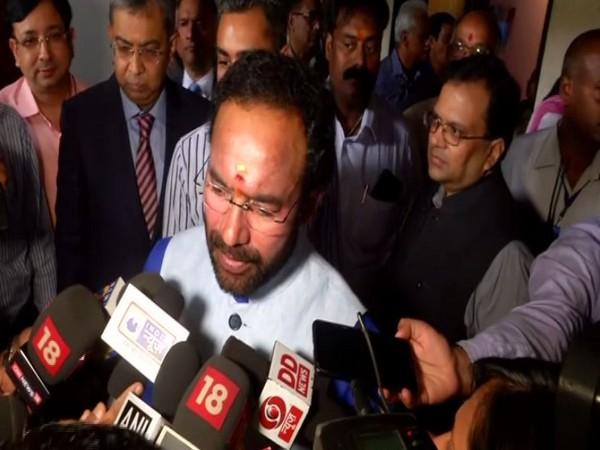 G Kishan Reddy speaks to media in New Delhi on Tuesday. [Photo/ANI]