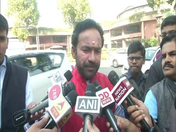 MoS for Home G Kishan Reddy speaking to media persons in New Delhi on Monday. Photo/ANI