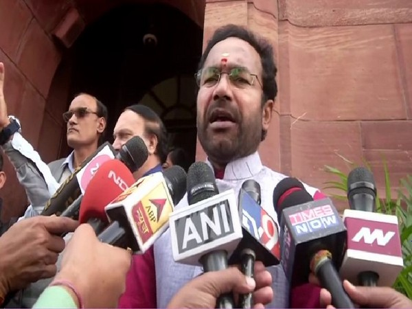 Union Minister G Kishan Reddy speaking to reporters in New Delhi on Friday. Photo/ANI