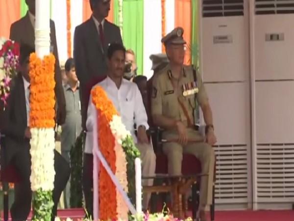 Andhra Pradesh Chief Minister YS Jaganmohan Reddy in Vijayawada on Aug 15.