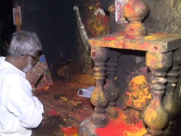 Y. V. Subba Reddy at Tirumala Balaji Temple on Saturday. Photo/(ANI)
