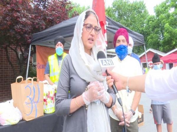 Ginny Ahluwalia, Representative of the Gurdwara Prabhandak Committee of the Guru Nanak Foundation of America speaking to ANI on Sunday (local time). Photo/ANI