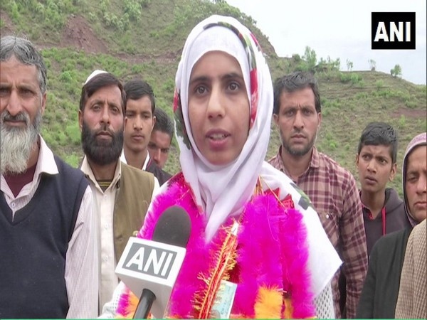 Rehana Bashir talking to ANI at a schhol in Poonch on Tuesday