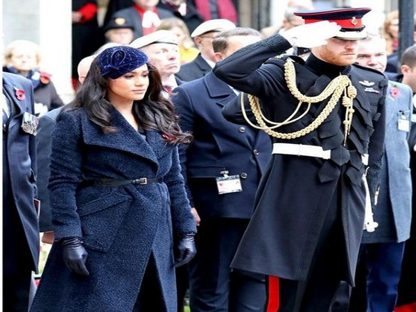 Meghan Markle and Prince Harry attending the  Remembrance service (Image courtesy: Instagram)