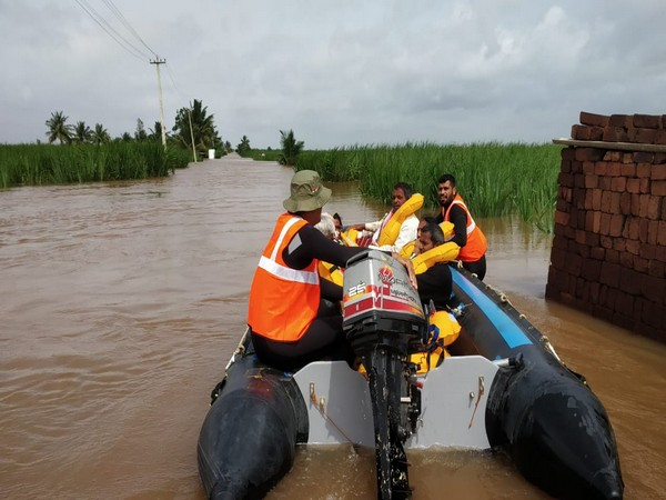 Visual from a rescue operation in Belgaum. File photo/ANI