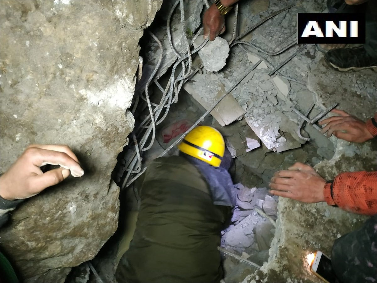 two couple trapped inside their house after landslide at Lag valley were rescued by authorities on Thursday