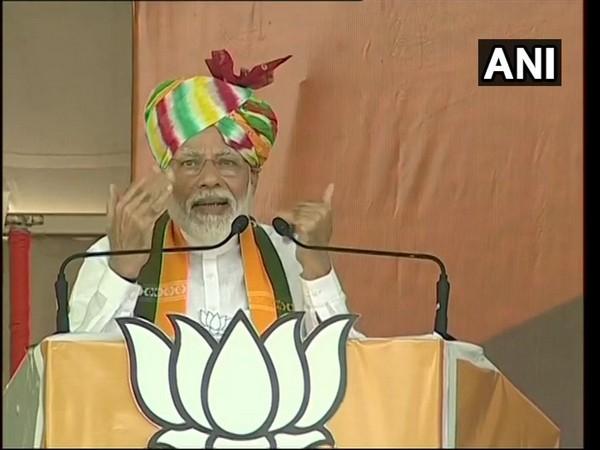 Prime Minister Narendra Modi addresing election rally in Rewari on Saturday