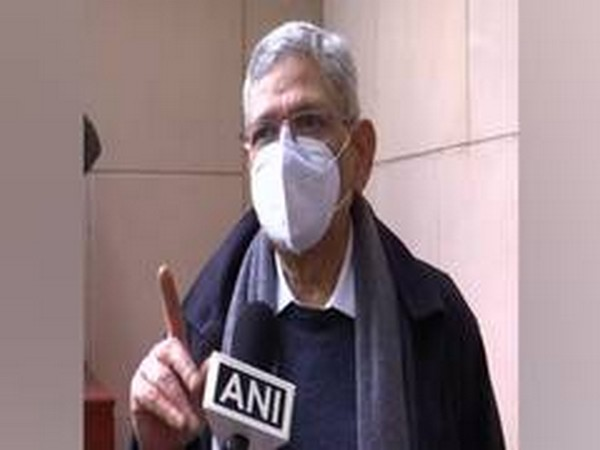 CPI-M general secretary Sitaram Yechury speaking to ANI