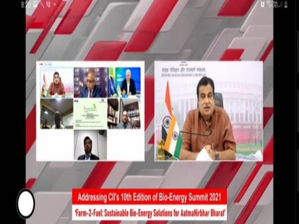 Union Minister Nitin Gadkari virtually addressing Bio-Energy Summit 2021.