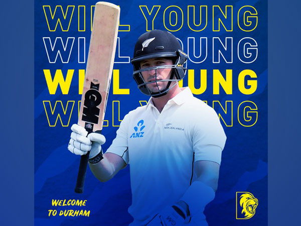 New Zealand batsman Will Young (Photo/ Durham Cricket Twitter)