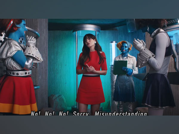 A still from the video featuring Zooey Deschanel (Image courtesy: Youtube)