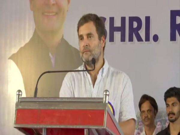Congress leader Rahul Gandhi addressing the people in Pannikode, Kerala on Thursday. Photo/ANI