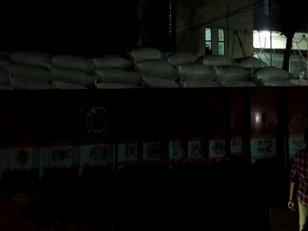 The lorry seized by Tadepalli police team on Wednesday. photo/ANI