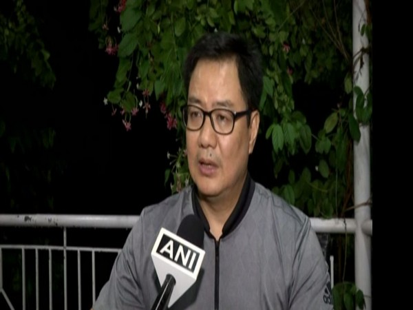 Union Sports Minister Kiren Rijiju talking to ANI