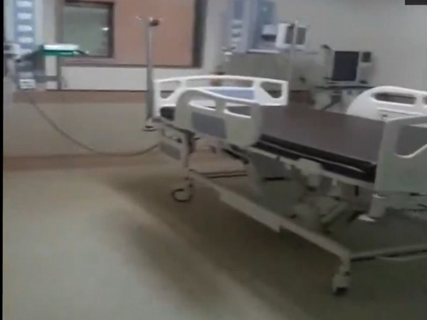 A bed at India's first COVID-19 dedicated hospital set up by Reliance in Mumbai. Photo/ANI