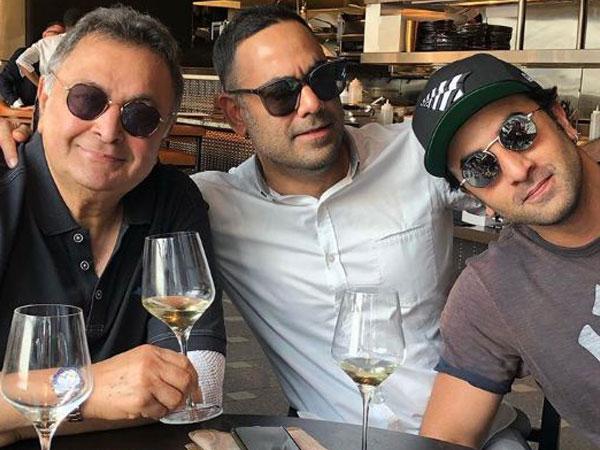 Rishi Kapoor, Bharat Sahni and Ranbir Kapoor (Image courtesy: Instagram)