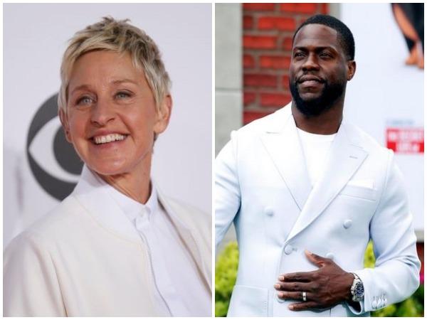 Ellen DeGeneres and Kevin Hart