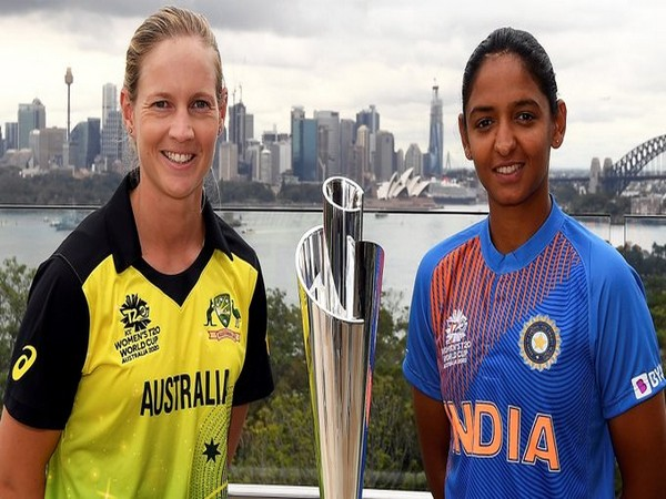 Australia skipper Meg Lanning and India skipper Harmanpeet Kaur ahead of Women's T20 World Cup final (Photo/ T20 World Cup Twitter)