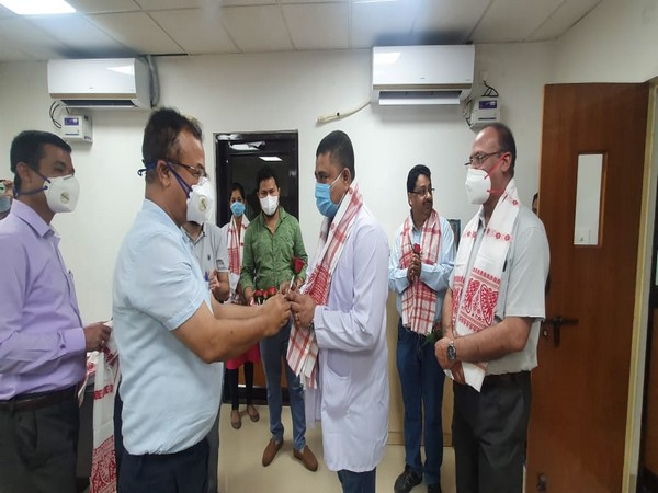Dibrugarh district administration felicitates RMRC for team for isolating COVID-19.