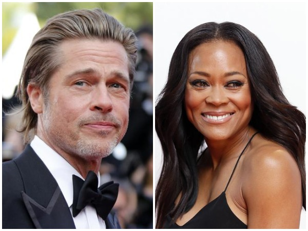 Brad Pitt and Robin Givens
