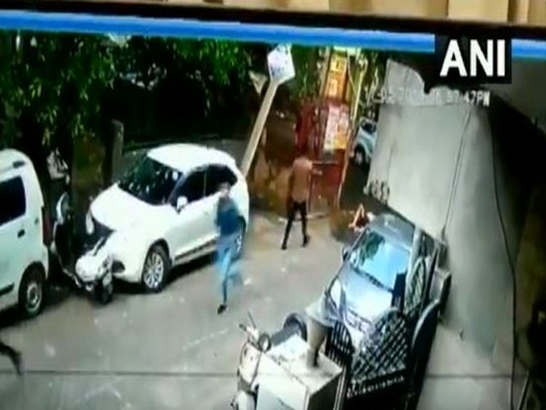 Visual from the accident spot in Rohini sector 15. [Photo/ANI]