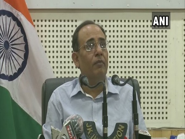 Rohit Kansal, Principal Secretary (Power and Information), Jammu and Kashmir speaking at a press conference in Srinagar on Saturday.