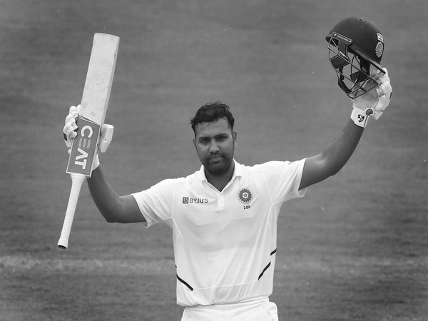 Rohit Sharma smashes his first double century in Test (Photo: BCCI's Twitter)