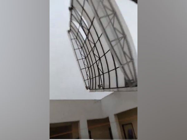 Roof of an undergraduate hostel of AIIMS Bhubaneswar was blown away (pic courtesy- Twitter ,Principal Director General , PIB )