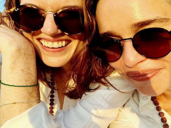 Rose Leslie and Emilia Clarke, Image courtesy: Instagram