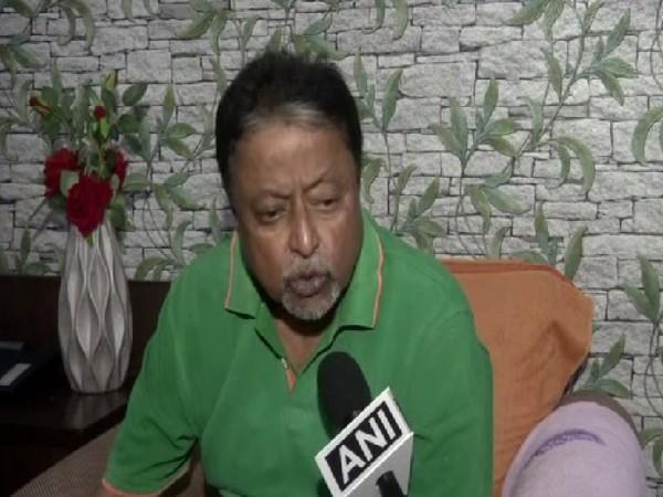 BJP leader Mukul Roy speaking to ANI in New Delhi. Photo/ANI