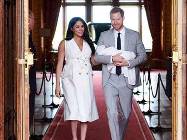 Prince Harry and Meghan Markel with their new born son Archie Harrison Mountbatten-Windsor (Image courtesy: Instagram)