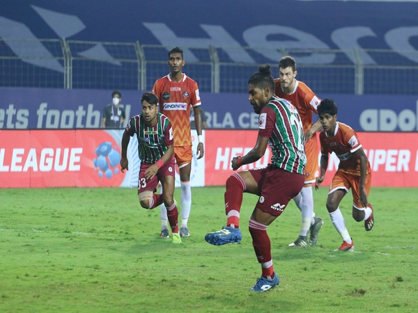 Roy Krishna of ATK Mohun Bagan successfully converted the spot-kick against FC Goa (Image: ISL)