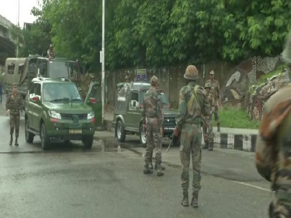 Security beefed up in Jammu on Mpnday. Photo/ANI