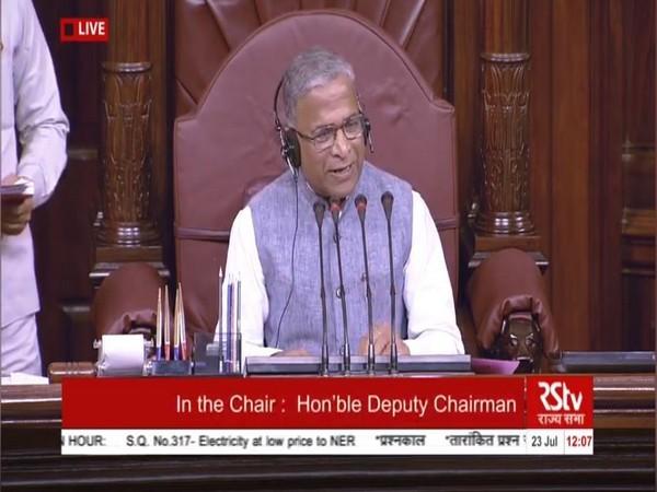 Deputy Chairman Harivansh Narayan Singh adjourned Rajya Sabha till 2 pm. Photo/RSTV