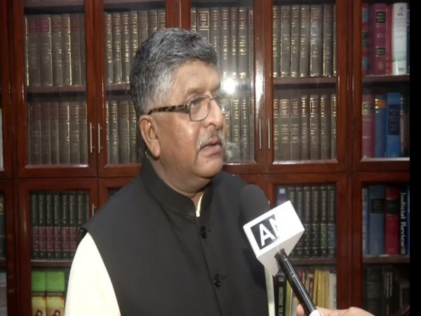 Union Law Minister Ravi Shankar Prasad speaking to ANI in New Delhi on Tuesday.