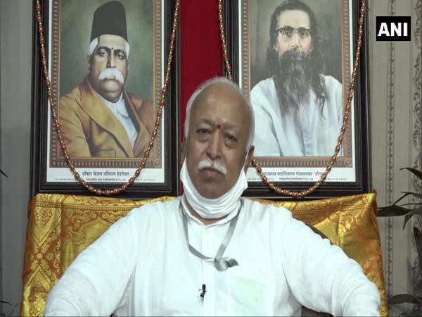 Rashtriya Swayamsevak Sangh chief Mohan Bhagwat. (Photo/ANI)