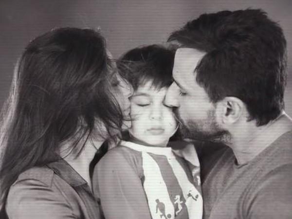 Taimur with parents Kareena Kapoor and Saif Ali Khan (Image source: Instagram)