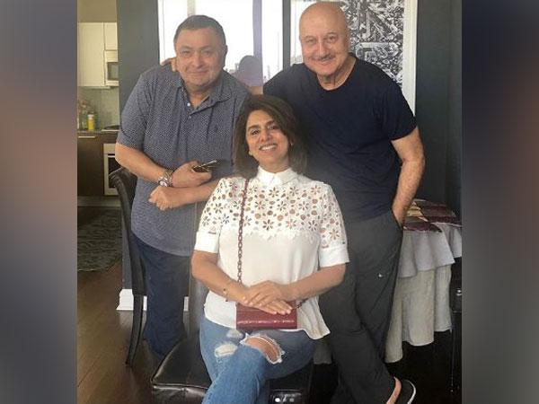 Rishi Kapoor, Neetu Kapoor and Anupam Kher, Picture courtesy: Instagram