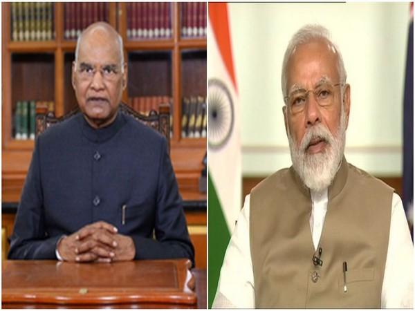 President Ram Nath Kovind (left) Prime Minister Narendra Modi (right) (File Photo/ANI)