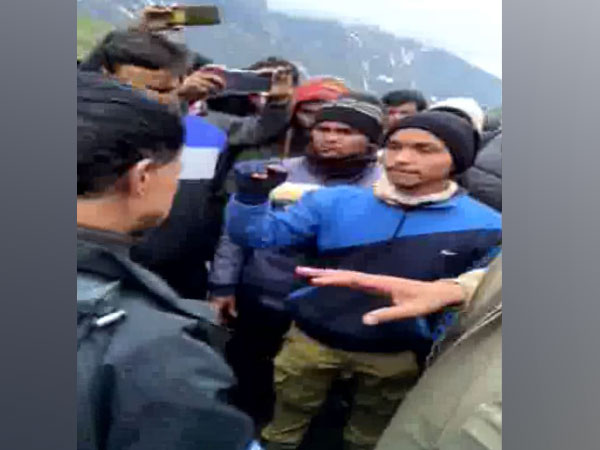 Visuals from Kedarnath where altercation broke out after death of tourist. Photo/ANI