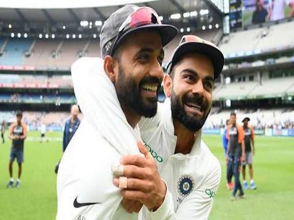 Ajinkya Rahane with India skipper Virat Kohli (Photo Ajinkya Rahane's twitter)