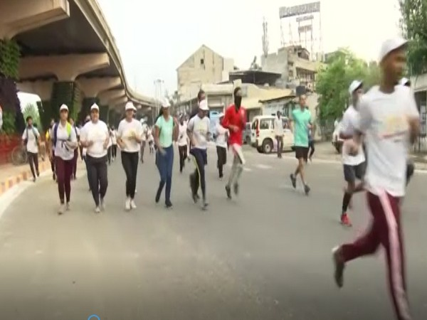 Youngsters participating in the run (Photo/ANI)